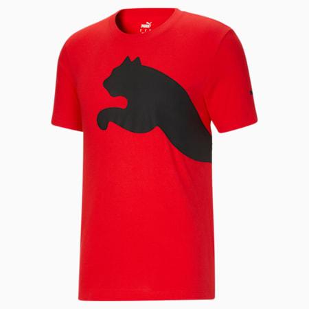 Camiseta con logotipo extragrande para hombre, High Risk Red, pequeño