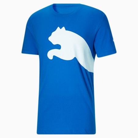Camiseta con logotipo extragrande para hombre, Future Blue-Puma White, pequeño