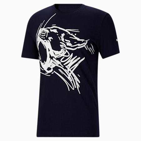 Camiseta Jungle Cat para hombre, Peacoat, pequeño