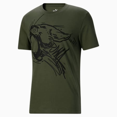 Camiseta Jungle Cat para hombre, Thyme, pequeño