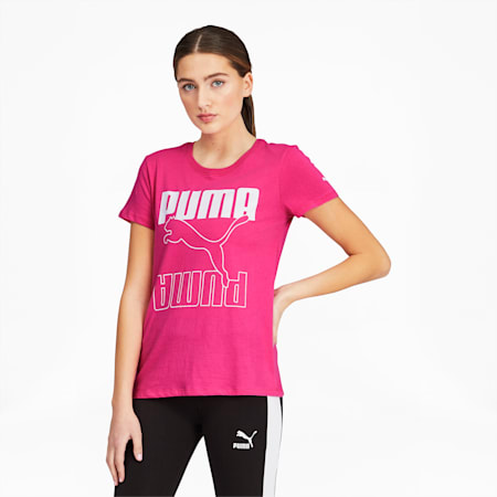 Big Cat Logo Fill Women's Tee, Glowing Pink, small