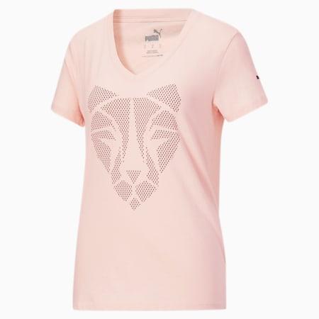 T-shirt à imprimé Cat, femme, Lotus, petit