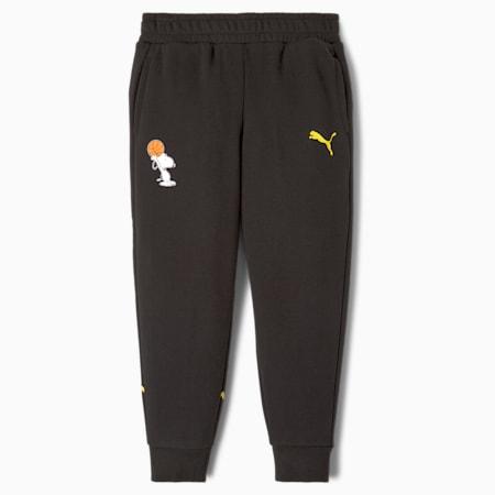 PUMA x PEANUTS Kinder Sweatpants, Puma Black, small