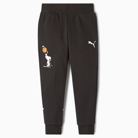 Dziecięce spodnie dresowe PUMA x PEANUTS, Puma Black, small