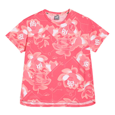 Alpha Printed Kid's   T-shirt, Sun Kissed Coral, small-IND