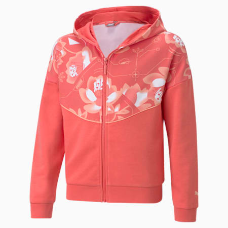 Alpha Full-Zip Youth Hoodie, Sun Kissed Coral, small-GBR