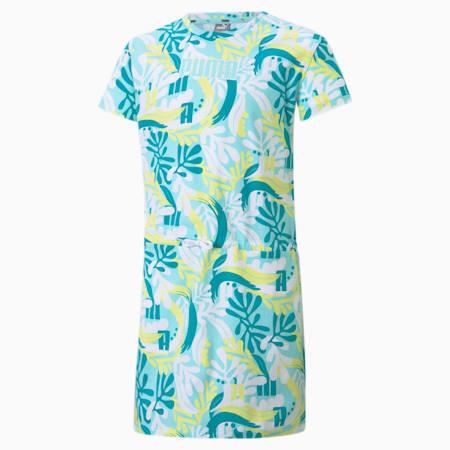 Vestido estampado juvenil Alpha, Island Paradise, small