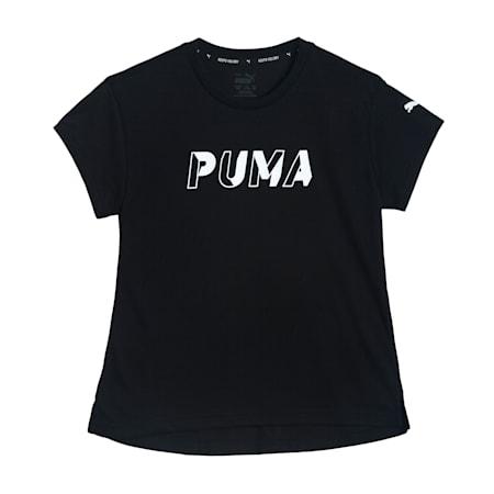 Modern Sports Logo Kid's T-Shirt, Puma Black, small-IND