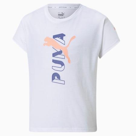 Modern Sports Logo Youth Tee, Puma White, small