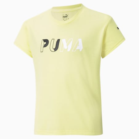 Modern Sports Logo Kid's T-Shirt, Yellow Pear, small-IND
