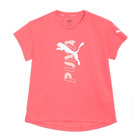 Modern Sports Logo Kid's T-Shirt, Sun Kissed Coral, small-IND