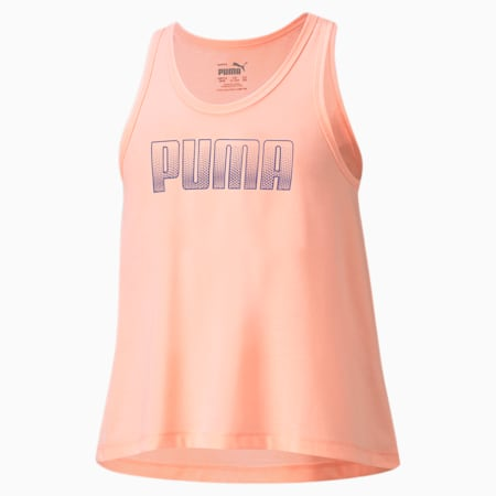 Młodzieżowa koszulka bez rękawów Runtrain, Elektro Peach, small