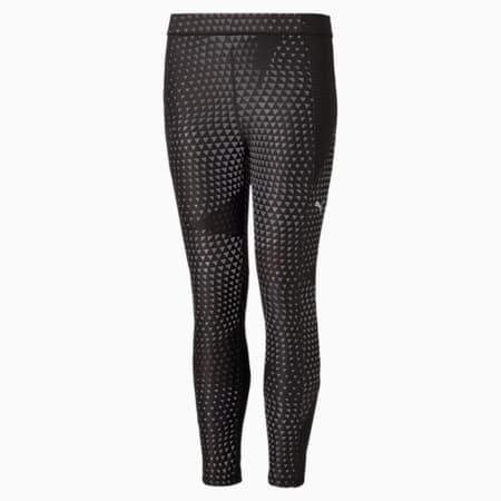 Młodzieżowe legginsy Runtrain, Puma Black-Black AOP, small