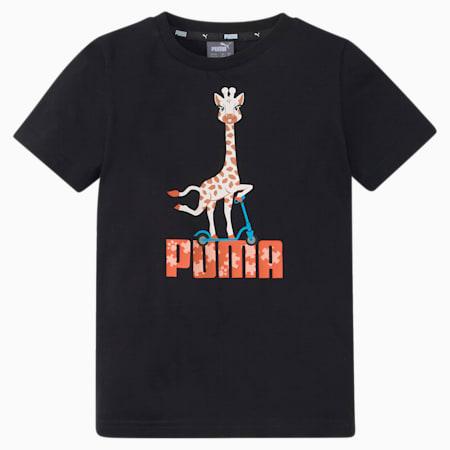Paw Kids'  T-shirt, Puma Black, small-IND
