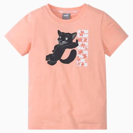 Paw Kids'  T-shirt, Apricot Blush, small-IND