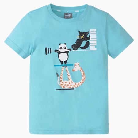 Dziecięcy T-shirt Paw, Angel Blue, small