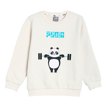 Paw Crew Neck Kids' Sweatshirt, Eggnog, small-IND
