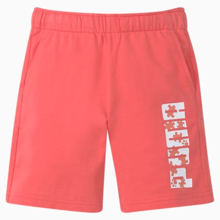 Paw Kinder Shorts, Sun Kissed Coral, small