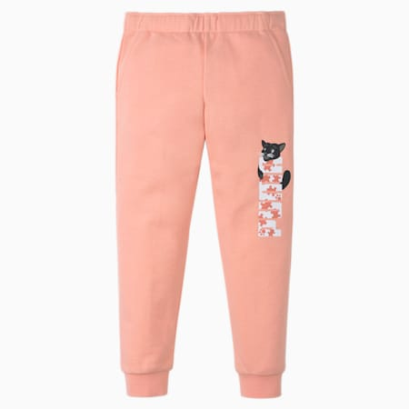 Paw Kids' Sweatpants, Apricot Blush, small-SEA