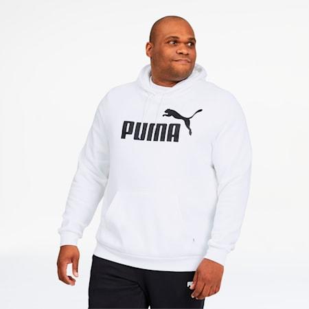 Essentials Big Logo Men's Hoodie BT, Puma White, small