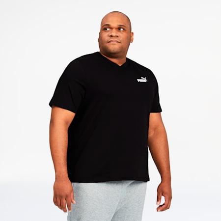 Essentials+ Men's V-Neck Tee BT, Cotton Black, small
