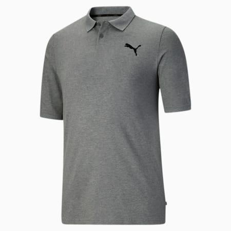 Camiseta tipo polo Essentialsde piqué para hombreBT, Medium Gray Heather, pequeño