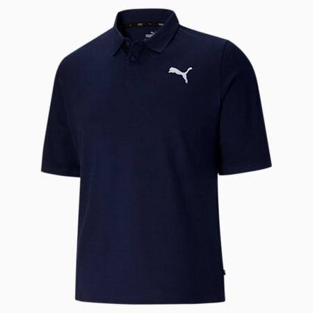Camiseta tipo polo Essentialsde piqué para hombreBT, Peacoat, pequeño