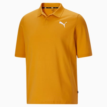 Camiseta tipo polo Essentialsde piqué para hombreBT, Mineral Yellow-Puma White, pequeño