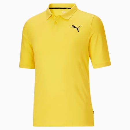 Camiseta tipo polo Essentialsde piqué para hombreBT, Celandine, pequeño