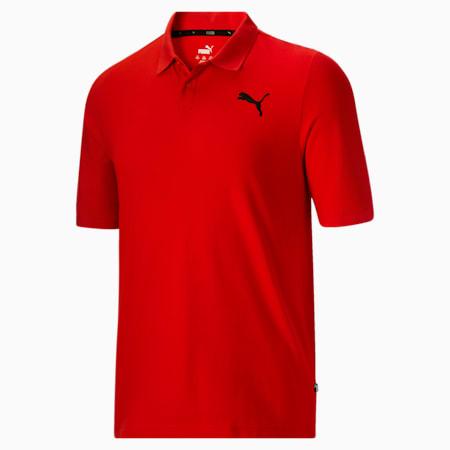 Camiseta tipo polo Essentialsde piqué para hombreBT, High Risk Red, pequeño