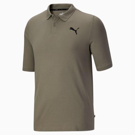 Camiseta tipo polo Essentialsde piqué para hombreBT, Vetiver, pequeño