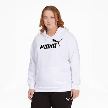 Essentials Women's Logo Hoodie PL, Puma White, small