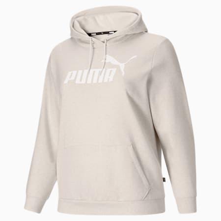 Sudadera con capuchaEssentials con logo para mujerPL, Puma White Heather-Tonal, pequeño