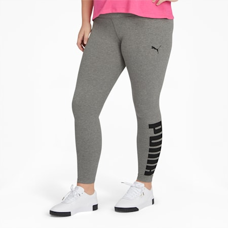 Athletic Women's Logo Leggings PL, MGH-Puma Black, small