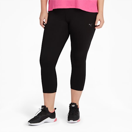 PUMA Solid Women's 3/4 Leggings PL, Puma Black, small