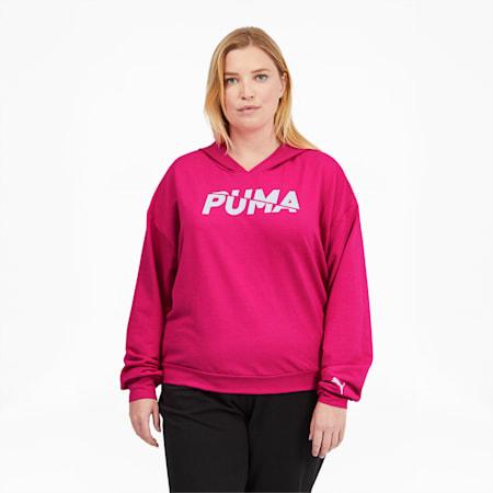 Chaqueta con capuchaModernSports PL para mujer, Glowing Pink, pequeño
