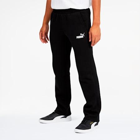 Essentials Men's Logo Pants, Cotton Black, small