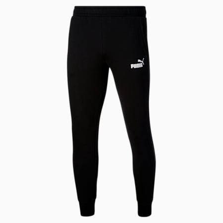 Essentials Men's Logo Sweatpants, Cotton Black, small
