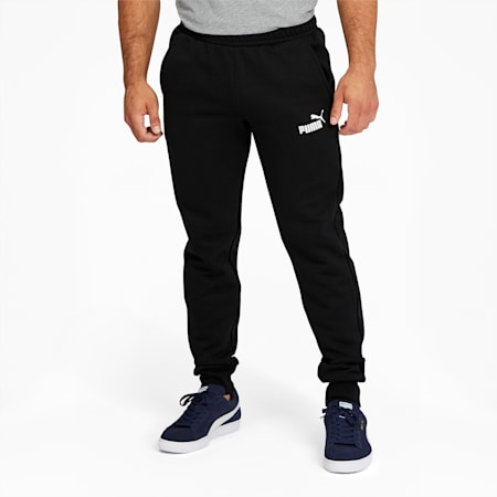 Essentials Men's Logo Sweatpants, Cotton Black, small