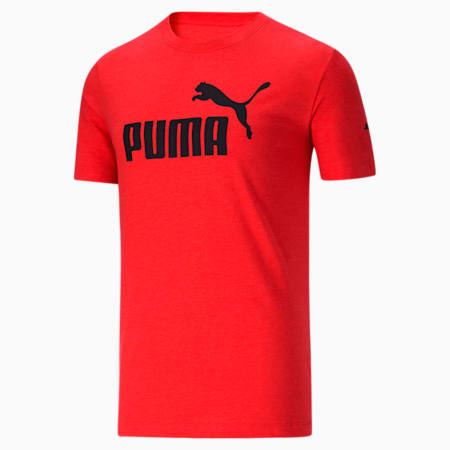 CamisetaEssentialsHeather para hombre, High Risk Red, pequeño