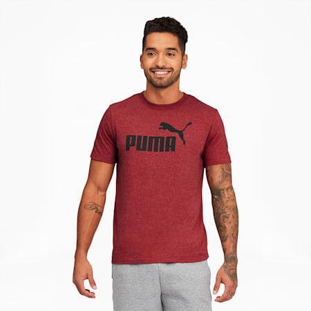 CamisetaEssentialsHeather para hombre, Red Dahlia, pequeño