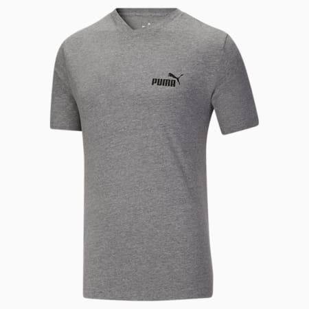 Camiseta con cuello en V Essentials+ para hombre, Medium Gray Heather, pequeño
