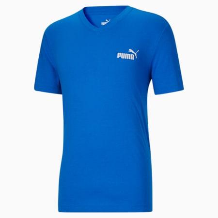T-shirt à encolure en V Essentials+, homme, Bleu futur-Blanc Puma, petit