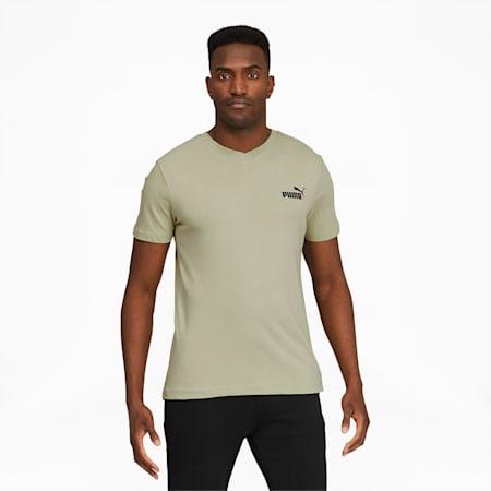 Camiseta con cuello en V Essentials+ para hombre, Desert Sage, pequeño