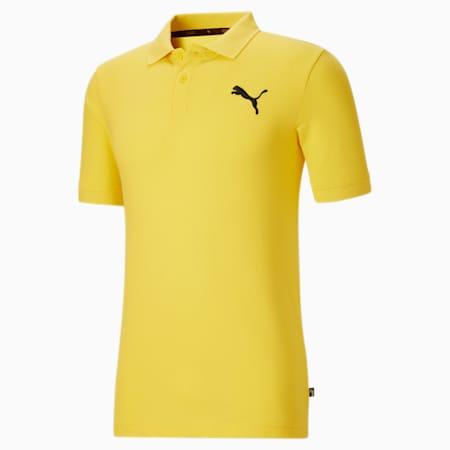Camiseta tipo polo Essentialsde piqué para hombre, Celandine-Cat, pequeño