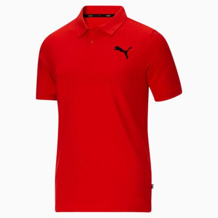 Camiseta tipo polo Essentialsde piqué para hombre, High Risk Red, pequeño