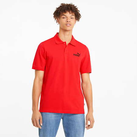 Essentials Men's Pique Polo, High Risk Red, small