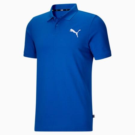 Camiseta tipo polo Essentialsde piqué para hombre, Future Blue-Puma White, pequeño