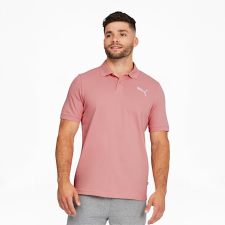 Essentials Men's Pique Polo, Bridal Rose, small