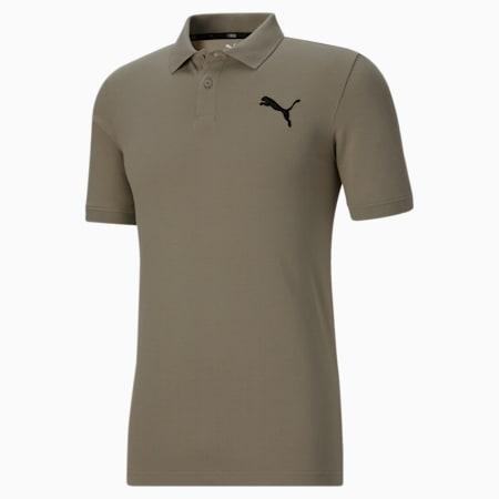 Camiseta tipo polo Essentialsde piqué para hombre, Vetiver-Cat, pequeño